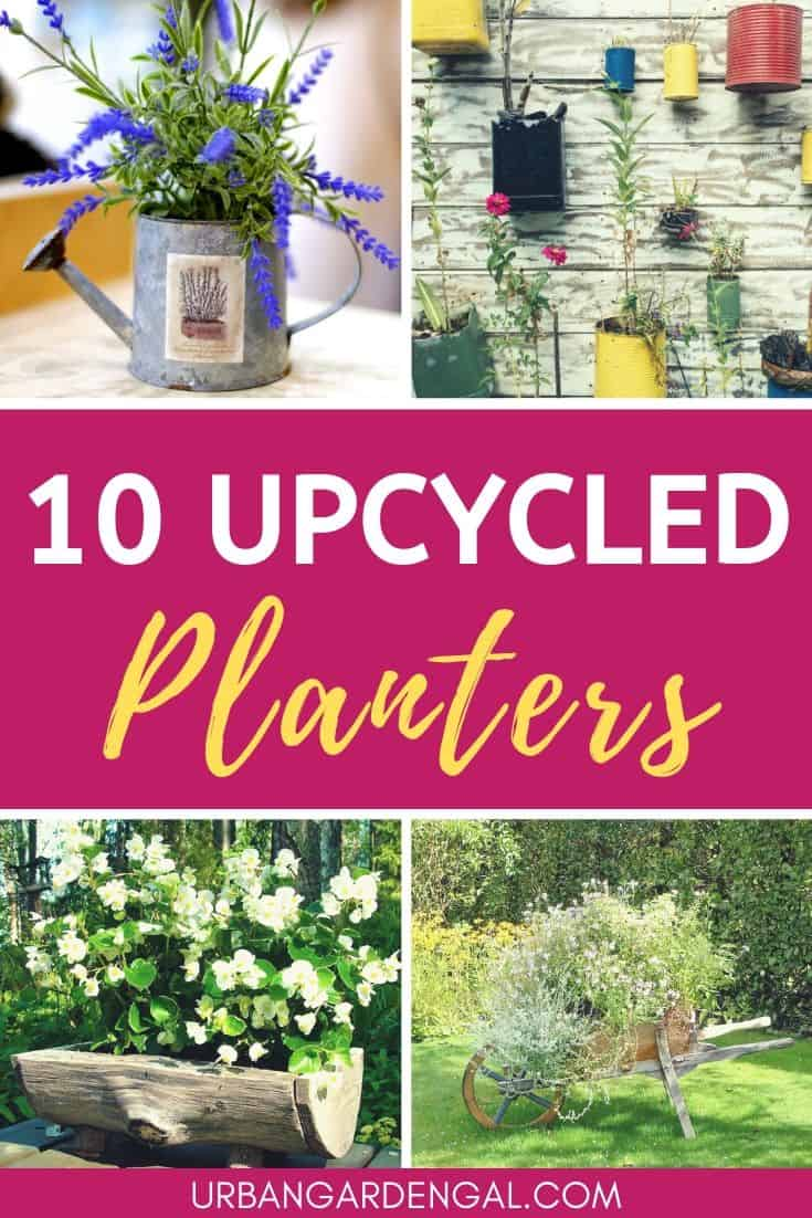 Upcycled planters