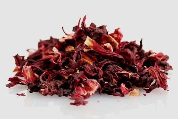 drying hibiscus flowers